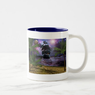 Second star to the right.. Two-Tone mug