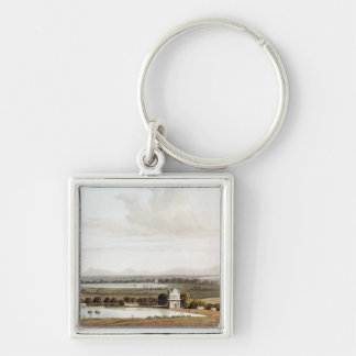 Second view looking north from the Pagoda Silver-Colored Square Key Ring