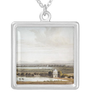 Second view looking north from the Pagoda Silver Plated Necklace
