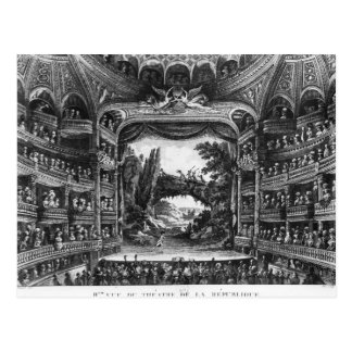 Second view of the Theatre de la Republique Postcard