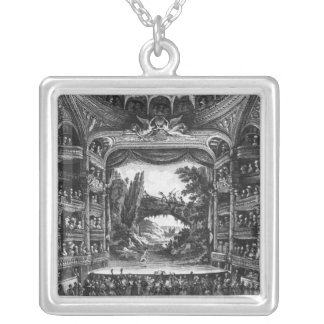Second view of the Theatre de la Republique Silver Plated Necklace