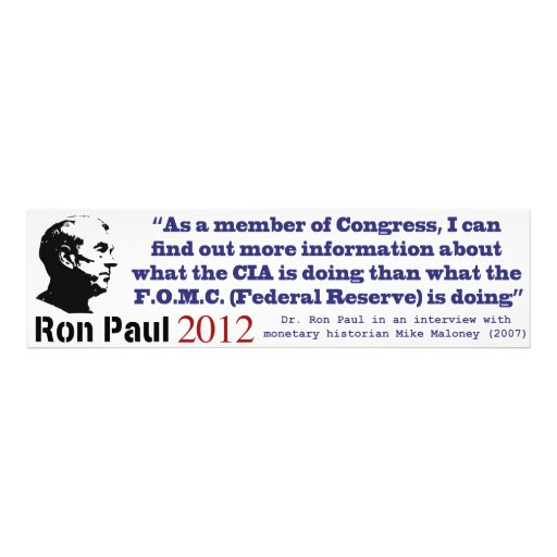 Secrecy Of The Federal Reserve System by Ron Paul Photograph
