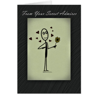 Secret Admirer Card Stick Person
