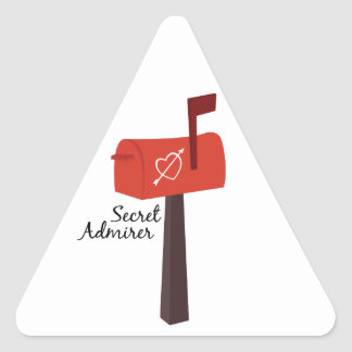 Secret Admirer Triangle Stickers