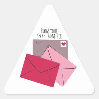Secret Admirer Triangle Sticker