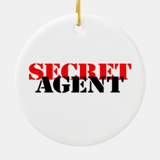 Secret Agent Christmas Ornaments