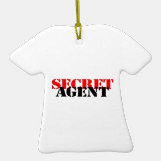 Secret Agent Double-Sided T-Shirt Ceramic Christmas Ornament