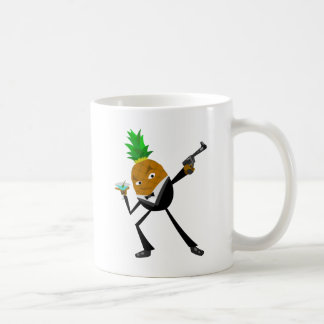 Secret Agent Pineapple Basic White Mug