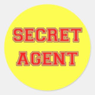Secret Agent Round Sticker