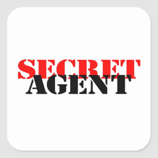 Secret Agent Square Sticker