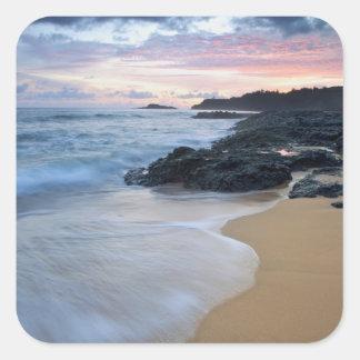Secret Beach at dawn Square Sticker