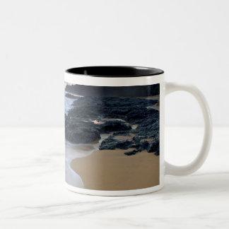 Secret Beach at dawn Two-Tone Coffee Mug
