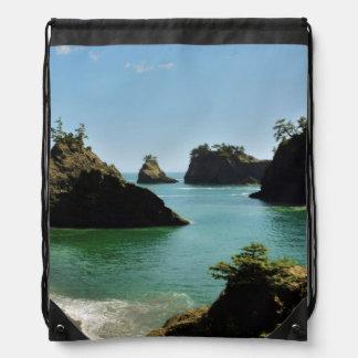 Secret Beach, Boardman State Park, Oregon, USA Drawstring Bag