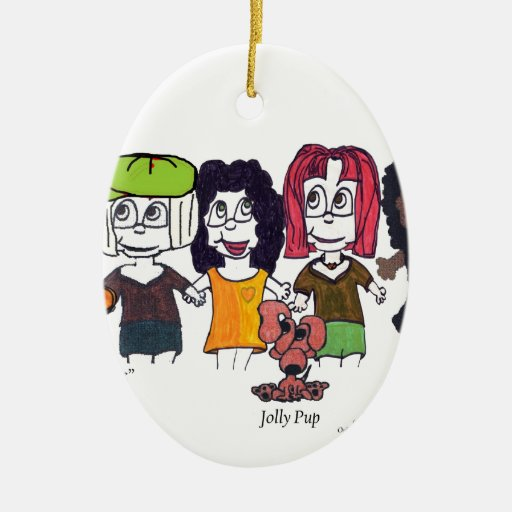 Secret City Characters2 copy.jpg Christmas Ornament