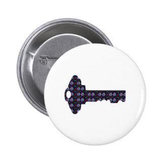 Secret Code Sparkle KEY NVN544 FUNNY GIFTS cuddle 6 Cm Round Badge