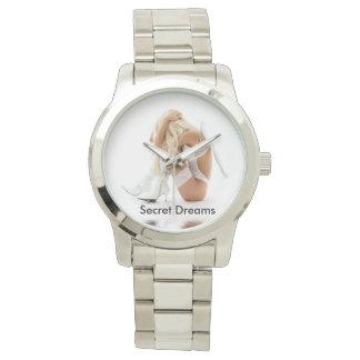 Secret Dreams Silver Bracelet, unisex Watch