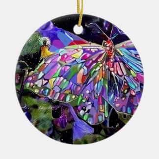 Secret Garden Double-Sided Ceramic Round Christmas Ornament