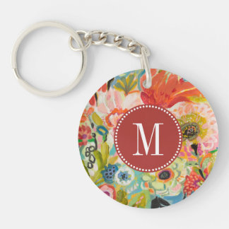 Secret Garden Floral III Key Ring