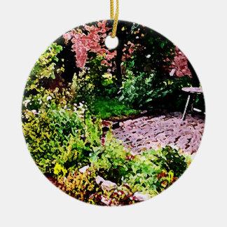 Secret Garden in Cambridge Round Ceramic Decoration