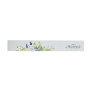 Secret Garden Rustic Wildflowers Custom Address Wrap Around Label