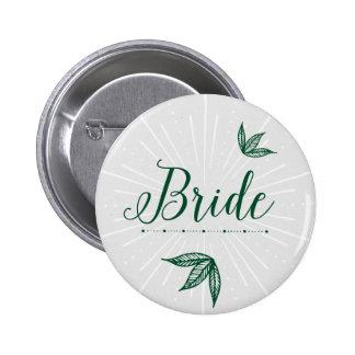 Secret Garden Wedding Button - Bride