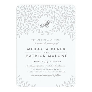 Secret Garden Wedding - Grey Card