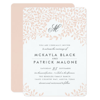 Secret Garden Wedding Invite - Blush