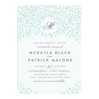 Secret Garden Wedding Invite - Mint