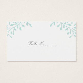 Secret Garden Wedding Place Cards 100 pk - Mint