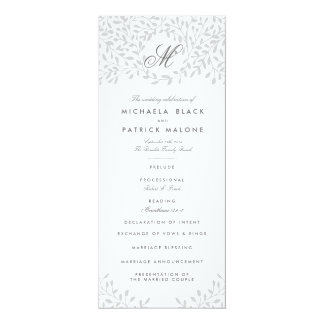Secret Garden Wedding Programs - Grey