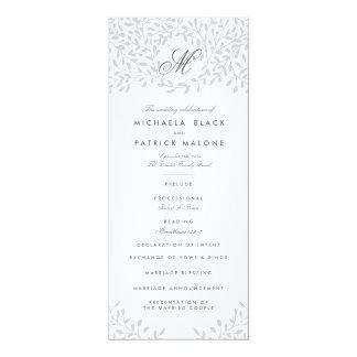 Secret Garden Wedding Programs - Grey 10 Cm X 24 Cm Invitation Card
