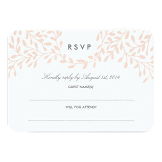 Secret Garden Wedding RSVP - Blush Card