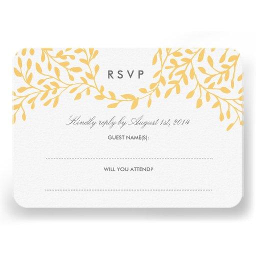 Secret Garden Wedding RSVP - Mustard Invitations