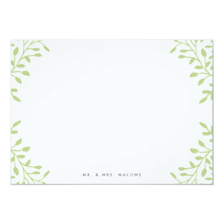 Secret Garden Wedding Stationery - Apple 13 Cm X 18 Cm Invitation Card