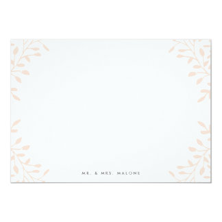 Secret Garden Wedding Stationery - Blush Card