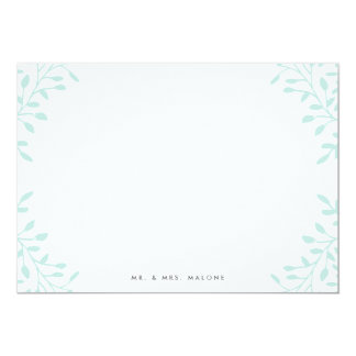 Secret Garden Wedding Stationery - Mint 13 Cm X 18 Cm Invitation Card