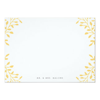 Secret Garden Wedding Stationery - Mustard Yellow Card