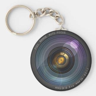 Secret hidden camera lens illusion basic round button key ring