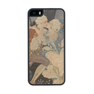 Secret Kiss, illustration for 'Fetes Galantes' by Carved® Maple iPhone 5 Slim Case