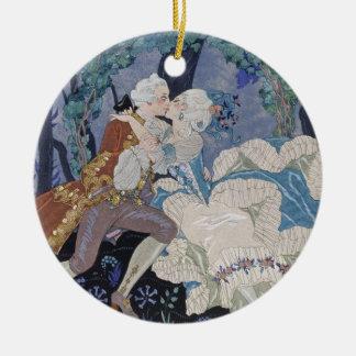Secret Kiss, illustration for 'Fetes Galantes' by Christmas Tree Ornaments