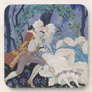 Secret Kiss, illustration for 'Fetes Galantes' by Drink Coaster