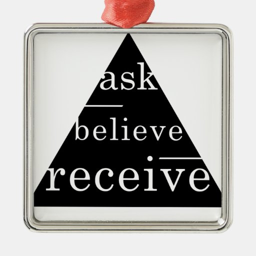 Secret law of attraction christmas ornaments