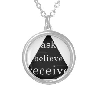 Secret law of attraction round pendant necklace
