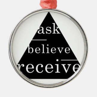 Secret law of attraction Silver-Colored round decoration