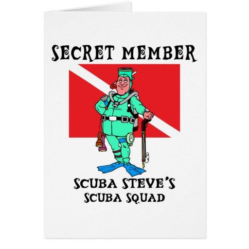 Secret Member SCUBA Steve Card