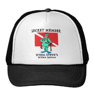 Secret Member SCUBA Steve Hats