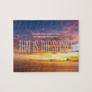 Secret Of Success - Motivational Quote Jigsaw Puzzle