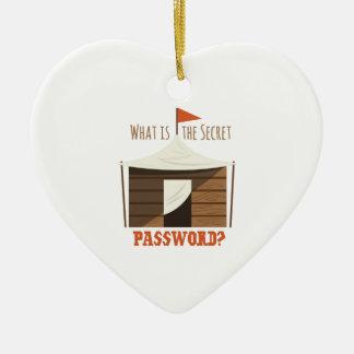 Secret Password Ceramic Heart Ornament