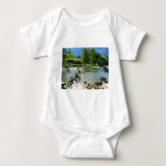 Secret pond on a beautiful sunny day tees