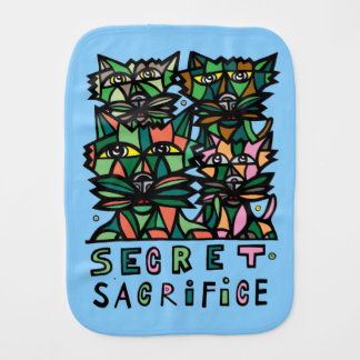 """Secret Sacrifice"" Burp Cloth"